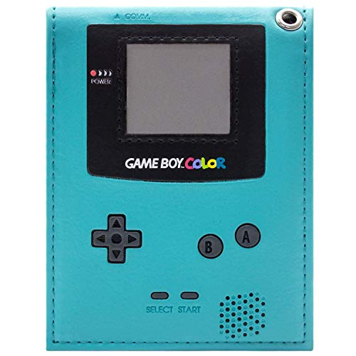 Retro Game Boy Color Handheld Console Teal ID & Card Bifold Wallet