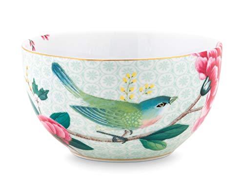 PIP STUDIO 51003113 Kollektion Blushing Birds – Schale weiß 12 cm – Zeitloser Charme – originelles und Elegantes Geschenk, Porzellan