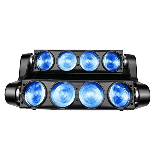 SevenStars Spider Moving Head Strobe Light,100W RGBW 4-in-1 LED Stage Lighting, DMX 512 DJ Lights for Party Bar Club Disco and More Performance Places