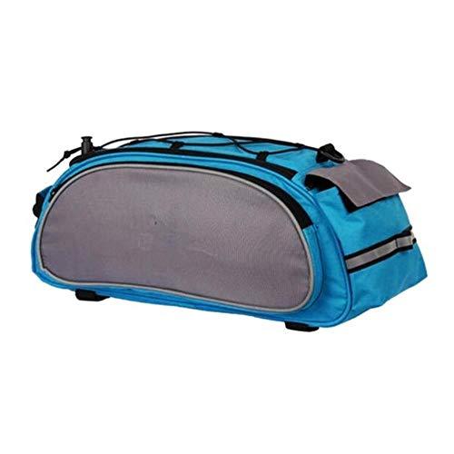 WOOAI Sac à vélo d'extérieur Multifonction 13L arrière de Sac de Selle de vélo Bicicleta Panier Porte Sac de Coffre Sac à bandoulière, Couleur: Bleu