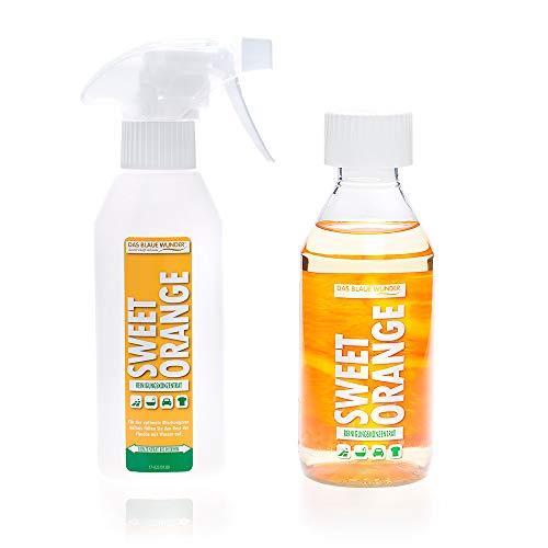 Das Blaue Wunder Orangenreiniger Sweet Orange Konzentrat | Universalreiniger | Fettlöser | Fleckenentferner | löst Kleber (250 ml)