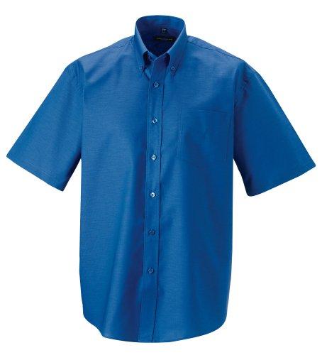 Z933 Kurzärmeliges Oxford Hemd Oberhemd Herrenhemd 3XL / 47/48,Aztec Blue