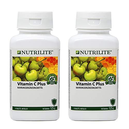 Pack 2 Vitamina C Plus NUTRILITE Tamaño Familiar - 180 comprimidos