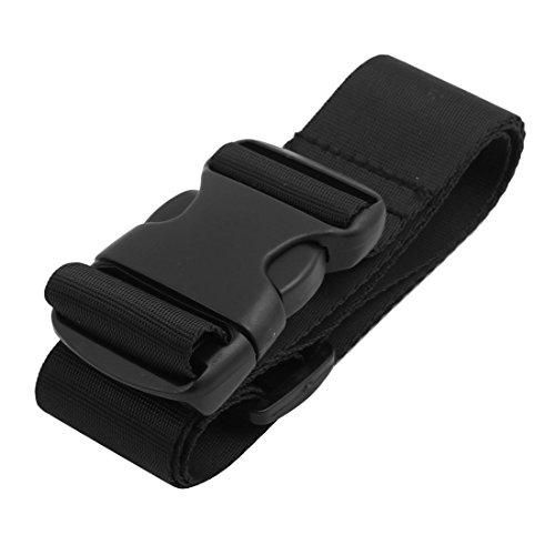 Aexit Nylon Tri Glide Buckle - verstellbarer Koffergurt 1.1M - langer, 40mm breiter Gürtel schwarz (a4e561ddef7476292cad7bd073d6d2e6)