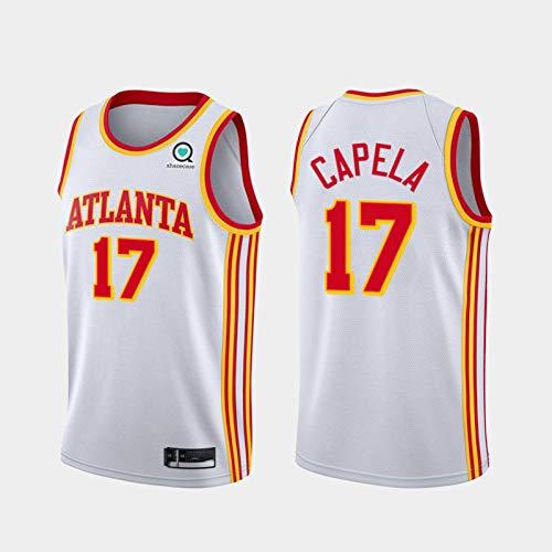 TPPHD Jerseys de Baloncesto para Hombres, NBA Atlanta Hawks 17# Clint Capela Classic Swingman Jersey, Tejido Transpirable Fresco de la Vendimia Uniforme de Fan Unisex,XL