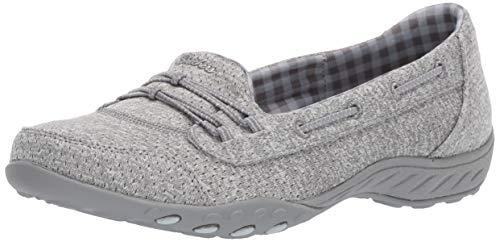Skechers Women's Breathe Easy-Good Influence Sneaker, Grey, 8.5 M US