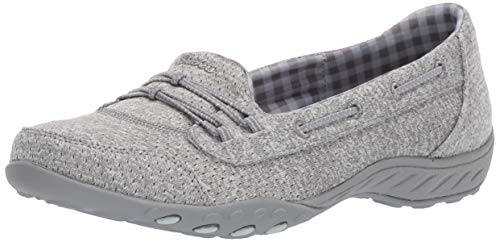 Skechers Women's Breathe Easy-Good Influence Sneaker, Grey, 8.5 M US