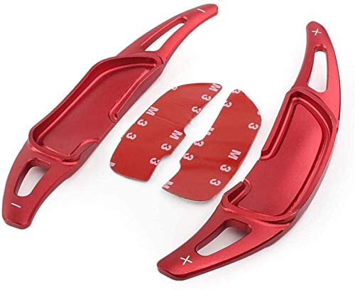 GAOYUN EIN Paar Zubehör Auto-Lenkrad Schalthebel, for Mercedes Benz AMG GLA45 SL63 A45 C63 E63 S65 CLS6 W176 W205 W213 W222 Paddle-Shift-Aufkleber-Dekoration (Color : Red)