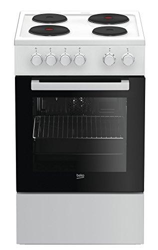 Beko FSE56000GW Herd-Kochfeld-Kombination / 50 cm / Practi-Clean / Umluft, Grill und Auftauen / Blitzkochplatte / Aufbewahrungsfach mit Klappe / weiß