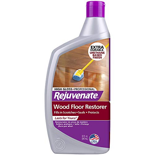 Rejuvenate Professional Wood Floor Restorer and Polish with Durable Finish Easy Mop On Application High Gloss Finish 32oz