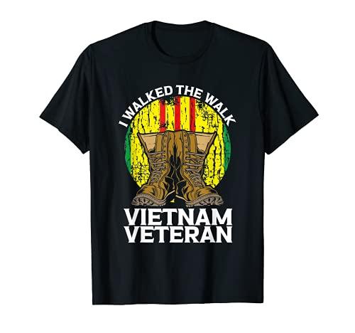 私は歩いたザ・ウォークベトナムベテラン米国ベテランデーサポート Tシャツ