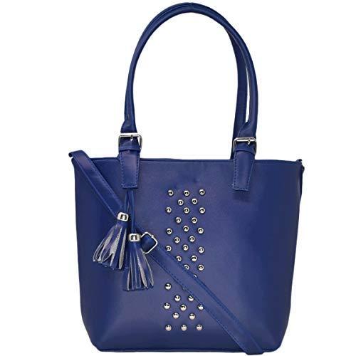 Typify Women's Leatherette PU Handbag with Sling Belt (Blue)