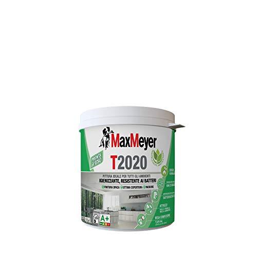 Maxmeyer 165368D300001 Pintura para interiores Transpirable T2020 Higienizante, Resistente a las bacterias Blanco 0,75 L, 0,75