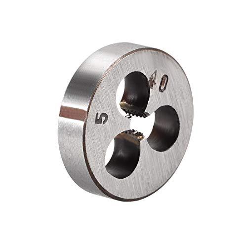 uxcell 5-40 UNC Round Die, Machine Thread Right Hand Threading Die, Alloy Tool Steel