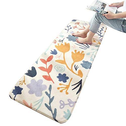 Alfombra gruesa con estampado de letras de hojas, suave y gruesa, para decoración de dormitorio, sala de estar, sofá, alfombra antideslizante