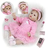 ZIYIUI 22 Pulgadas Muñecas Reborn bebé Realista Reborn Baby Doll 55 cm Realista Bebé Reborn niña Suave Silicona Vinilo Reborn Baby Doll Hecha a Mano Regalo de cumpleaños para niñas
