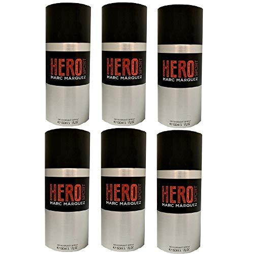 Hero Sport Extreme Desodorante Spray 150ml by Marc Márquez. 6 Unidades