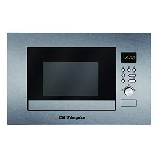 Orbegozo MIG 2037 Microondas con Grill, 800 W, 20 litros, Acero Inoxidable