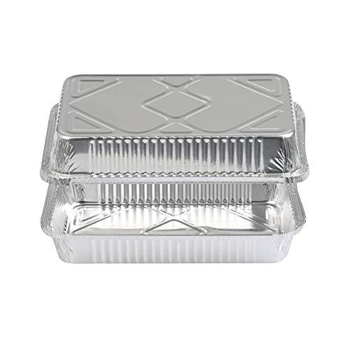 Vassoio monouso in alluminio scoperto vassoio di latta grande contenitore rettangolare Grill piastra per grigliare pesce in The Wild Cooking Cottura adatto per forno BBQ Grill 10 pezzi