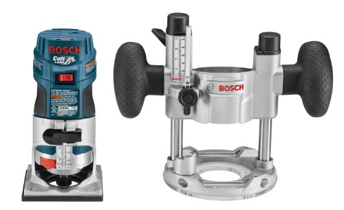 Bosch PR20EVSPK 5.6-Amp Colt Palm Grip 1-Horsepower Fixed and Plunge Base Variable-Speed Router...