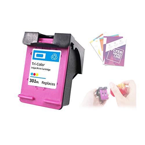 Cartuchos de Impresora de InyeccióN de Tinta,Cartuchos Tricolor Negros para HP301XL,con Recargable,Fuerte Compatibilidad y Practicabilidad Fuerte,Color