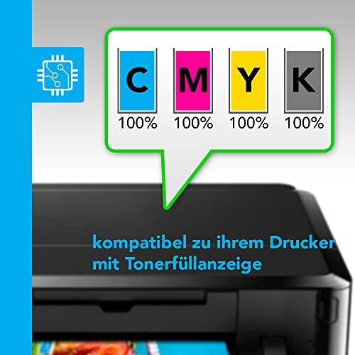 LABT Toner kompatibel zu Dell C3760n / C3760dn / C3765dnf | 4er Tonerset schwarz, Cyan, Magenta, gelb