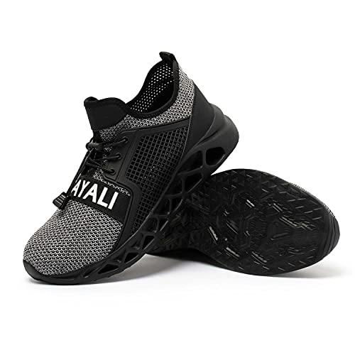 UCAYALI Zapato Seguridad Zapatos Mujer Trabajo con Punta de Acero Antideslizante Unisex-Adulto Rosa 45 Gris 39