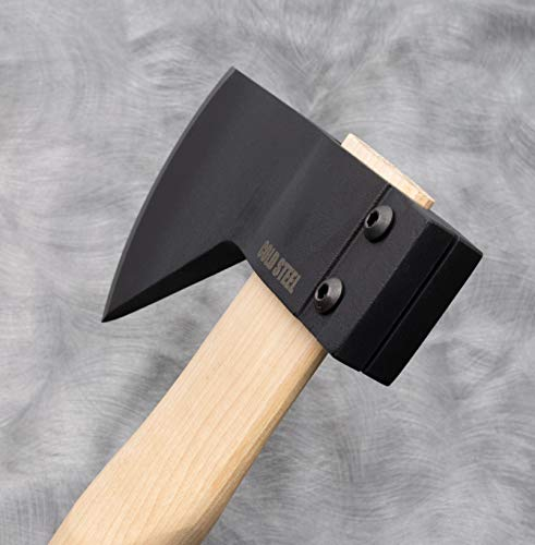 """Cold steel all-purpose axe with hickory handle, great for camping, survival, outdoors, wood cutting and splitting 3 our hudson bay camp axe is faithful to historical examples stretching back over 100 years sized to be convenient to carry on every outdoor adventure, it's an essential tool you won't want to go into the woods without features our ground breaking clamp-like locking mechanism which is so ruggedly hard to """"pull off"""" that it doubles the industry standard; possible to change out a broken handle in less than 2 minutes"""