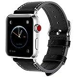 Fullmosa Kompatibel Apple Watch Armband 42mm(Series 4 44mm),Leder Wax Series iWatch Band/Ersatzband...