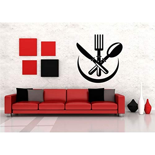 Wand Vinyl Aufkleber Aufkleber Wandbild Room Design Löffel Messer Gabel Küche 57 * 60 Cm