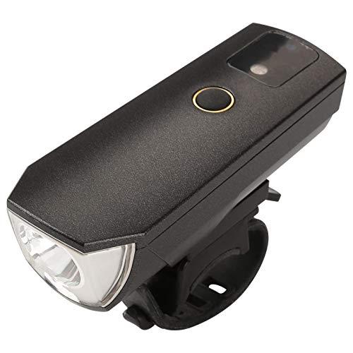 Wosune Luz Delantera de Bicicleta, luz de Bicicleta Recargable por USB, Faro de Bicicleta para pasear a su Perro, Andar en Bicicleta, Cambiar una llanta de Emergencia