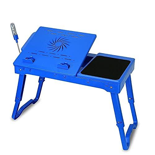 Escritorio plegable para computadora en la cama, mesa plegable para computadora portátil, cama, escritorio para computadora portátil con ventilador de enfriamiento, tablero para mouse, soporte para