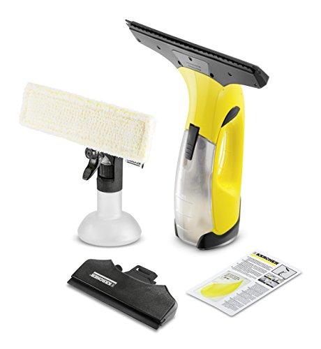Kärcher Akku Fenstersauger WV 2 Premium Extra Absaugdüse (Akkulaufzeit: 25 min, 2x wechselbare Absaugdüsen - breit und schmal, Sprühflasche mit Mikrofaserbezug, Fensterreiniger-Konzentrat 20 ml)