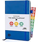 Simple Elephant Daily Planner 2021-2022 - Undated Weekly and Monthly Planner & Notebook - High Performance Organizer for Productivity, Gratitude, and Focus - Journal & Agenda (Blue)