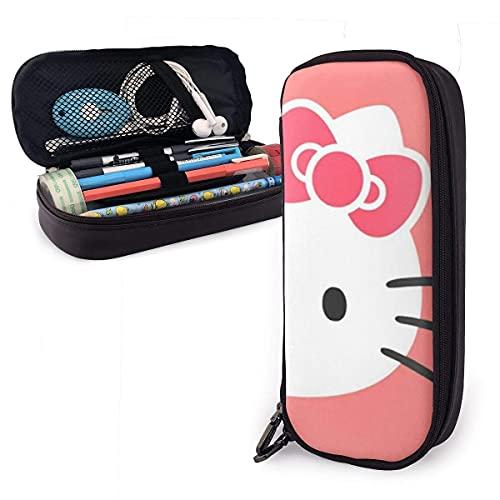 Hello Kitty Federmäppchen, großes Fassungsvermögen, für Make-up, Stifte, Schreibwaren mit doppeltem Reißverschluss, Stifthalter für Schule, Büro ~ B7