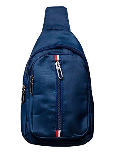 BOLF Herren Nierentasche Freizeittasche Umhängetasche Schulterrucksack Crossbag BRUNO ROSSI T49 Dunkelblau One Size [1S1]