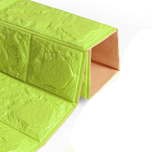 Leileixiao Etiquetas engomadas de la Pared para el Dormitorio PE Espuma 3D DIY Auto Adhesivo Paneles de ladrillo Pegatinas de Pared Decoración del hogar Decoraciones de la Escuela de viveros