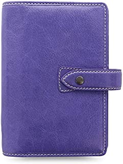 $89 » Filofax Malden Leather Organizer Agenda 2020 Calendar Bundle with DiLoro Ballpoint Pen (Iris 2021, Personal Paper Size 6.7...