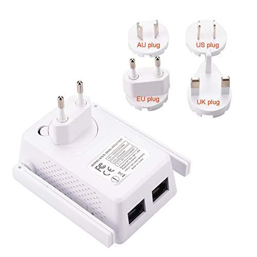WLAN Repeater Verstärker WPS,AP Modus, Kompatibel zu Allen gängigen WLAN-Routern (300MBit/s 2.4 GHz),White
