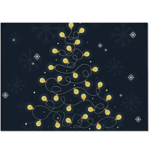 ACYY Feliz Navidad Mantel Tazón Copa Pad Posavasos De Navidad Juego De Mesa (Color : 8001, Size : Polyester)