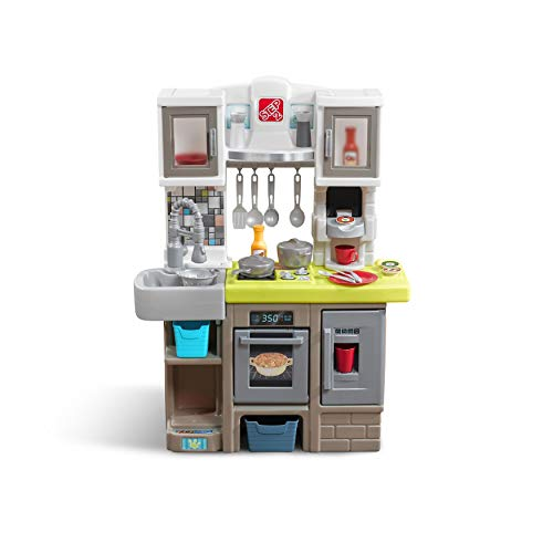 Buy Step2 Contemporary Chef Kitchen Colorful Plastic Play Kitchen Kids Kitchen Playset With 25 Pc Toy Accessories Set Included Grey Toys R Us