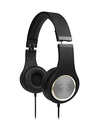 TDK ST700 OnEar-Kopfhörer (Klappbügel, SoftTouch-Polster, Hochleistungstreiber) schwarz