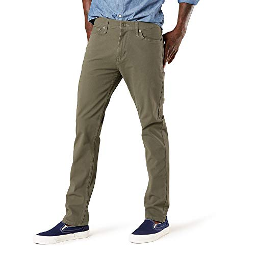 Dockers Men's Slim Fit Smart Jean Cut 360 Flex Pants, Earth Moss, 38W x 29L