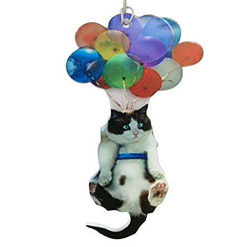 Veiai Flying Flat Cat Dog Balloon Car Hanging Ornament,Car Decor Interior Hanging Pendent with Balloon Key Charm Decoration Pendant (Cat)