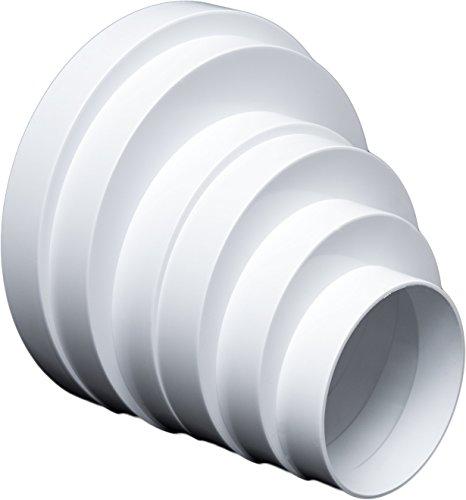 Riduttore universale per sistemi di ventilazione, ø 80–160mm.Connettore di riduzione, tubo Ø 80100120125150160mm.Tubo tondo di ventilazione, condotto di ventilazione. RDRA.
