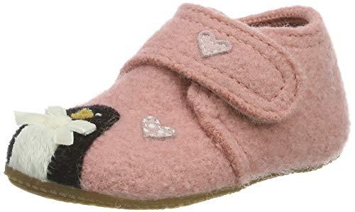 Living Kitzbühel Baby Mädchen Babyklettschuh Eisbär & Pinguin in Love Hausschuhe, Pink (ash Rose 0336), 20 EU