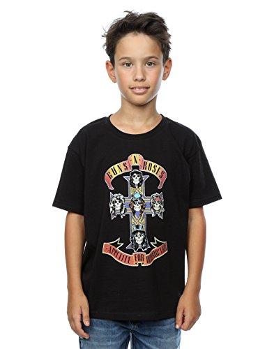 Guns N' Roses niños Appetite For Destruction Camiseta 12-13 Years Negro