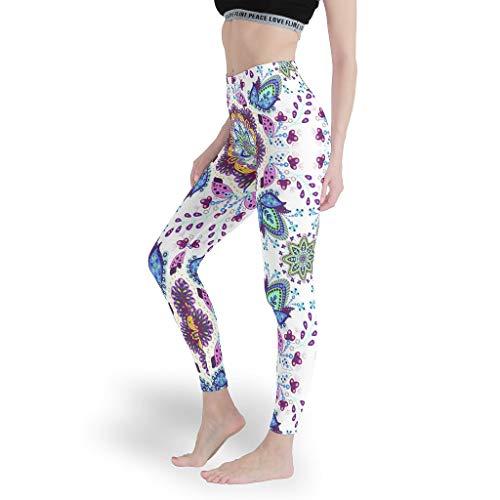 Mädchen Workout Leggings Papular Yoga Hosen Dehnbar Capris Tights für Pilates GymPattern White xs