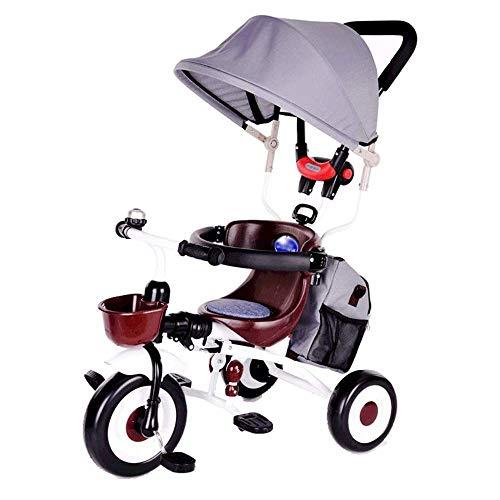 Thumby Kinder Hand Push-Dreirad Fahrrad-Licht-Folding bewegliche Baby-Kinderwagen Geeignet for 3-6 Jahre Alten Kind Fahrrad jianyu