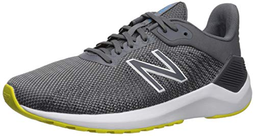 New Balance Men's Ventr V1 Running Shoe, Grey/Yellow, 9 M US